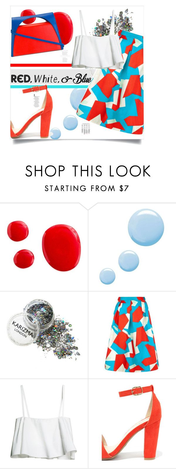 """""""Untitled #287"""" by tellmeverything ❤ liked on Polyvore featuring Topshop, Traffic People, Bamboo, J.W. Anderson, redwhiteandblue and july4th"""