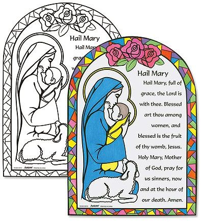 catholic coloring pages hail mary - photo#11
