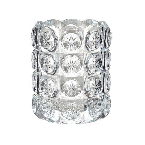 FLEST Fyrfadslysestage IKEA Det klare glas reflekterer og understreger det varme lys fra stearinlysets flamme.