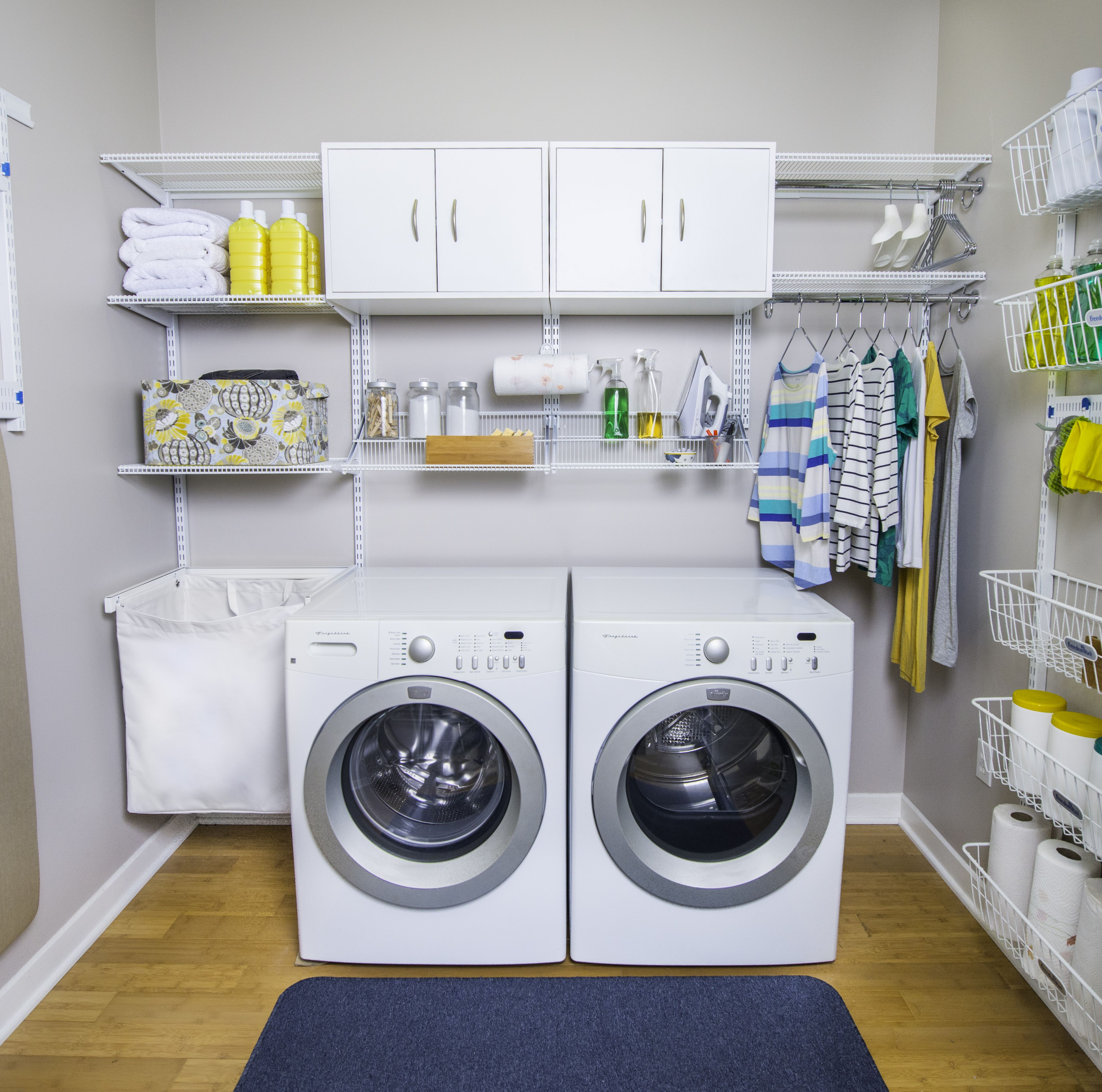 Organize Your Laundry Routine With Seven Simple Tips Blog Organized Living Storage Ideas Laundry Room Organization Laundry Room Design Small Laundry Rooms