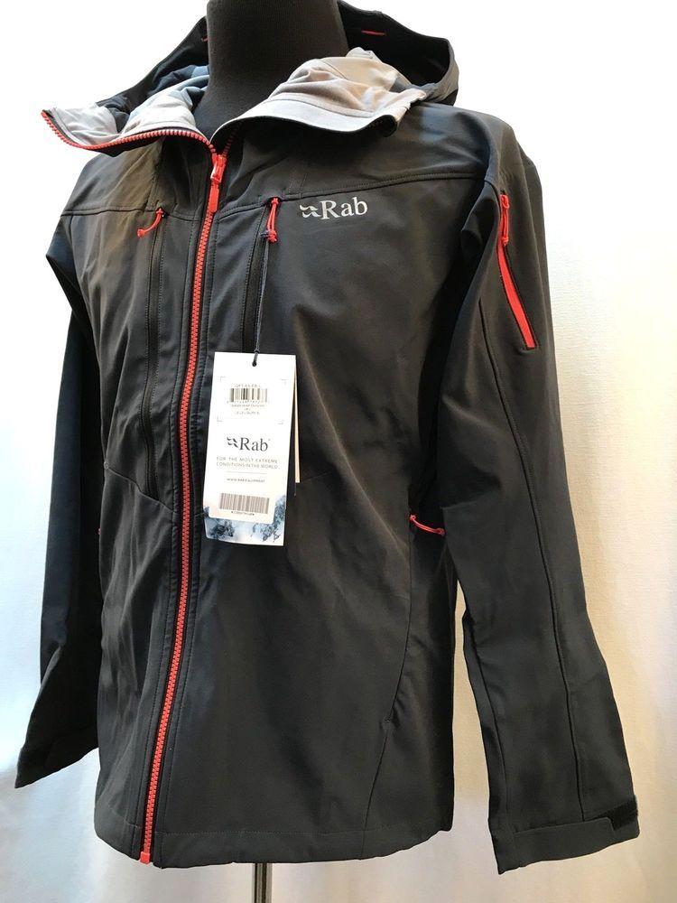 fc4c5bf1bd Rab Upslope Jacket Men s Large Softshell Midweight Hood Ebony New with Tags   265  RAB  SoftShell