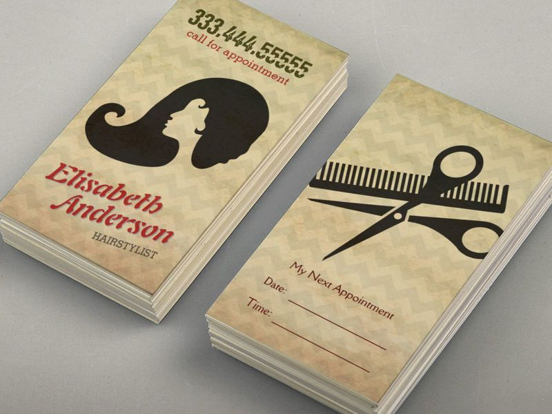 Customizable Hairstylist Beauty Salon Appointment Reminder Card ...