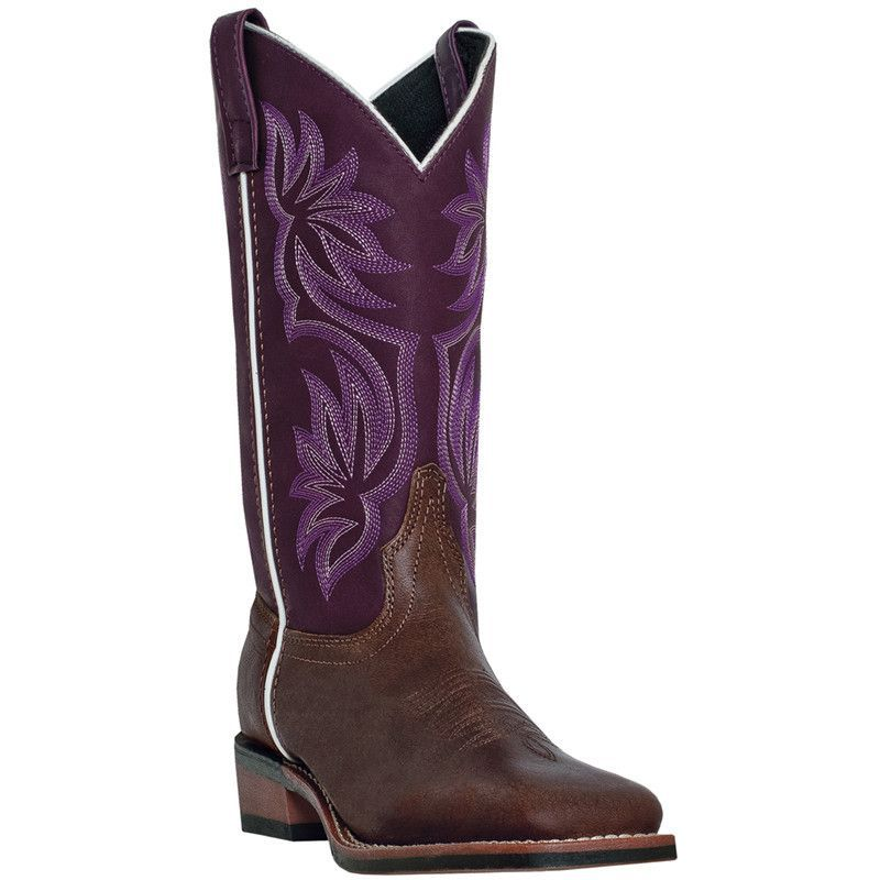 These authentic western leather womens cowboy boots from Laredo ...