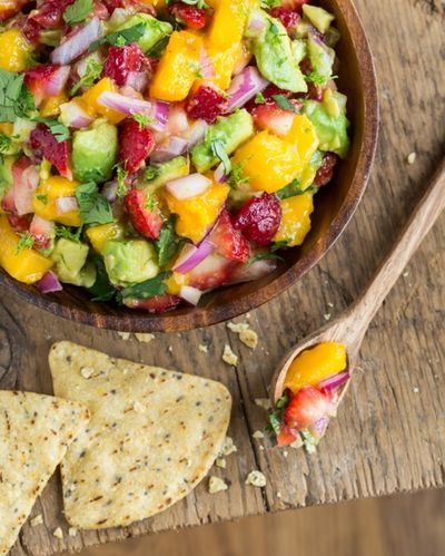 Strawberry Mango Guacamole from 'Oh She Glows' | Mango