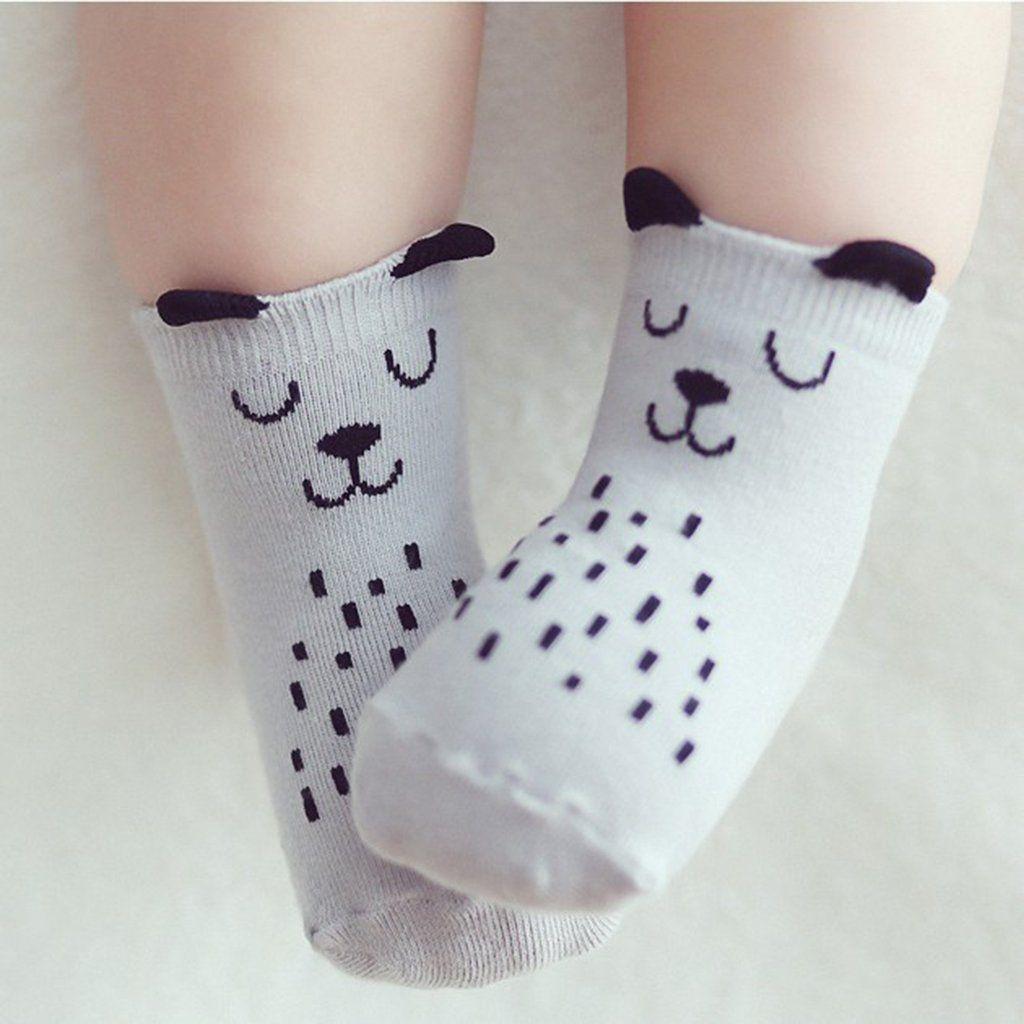 Baby Boys Girls Infant Spring Cotton Cartoon Animal Socks Warm Anti Slip Floor Socks Leg Warmer