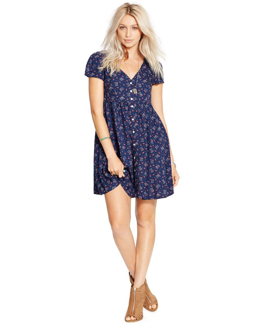 Country girl and proud. Denim & Supply Ralph Lauren Floral-Print Button-Front Dress   Pretty Little Liars