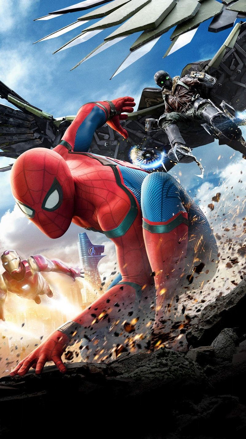 spider-man: homecoming (2017) phone wallpaper | action | pinterest