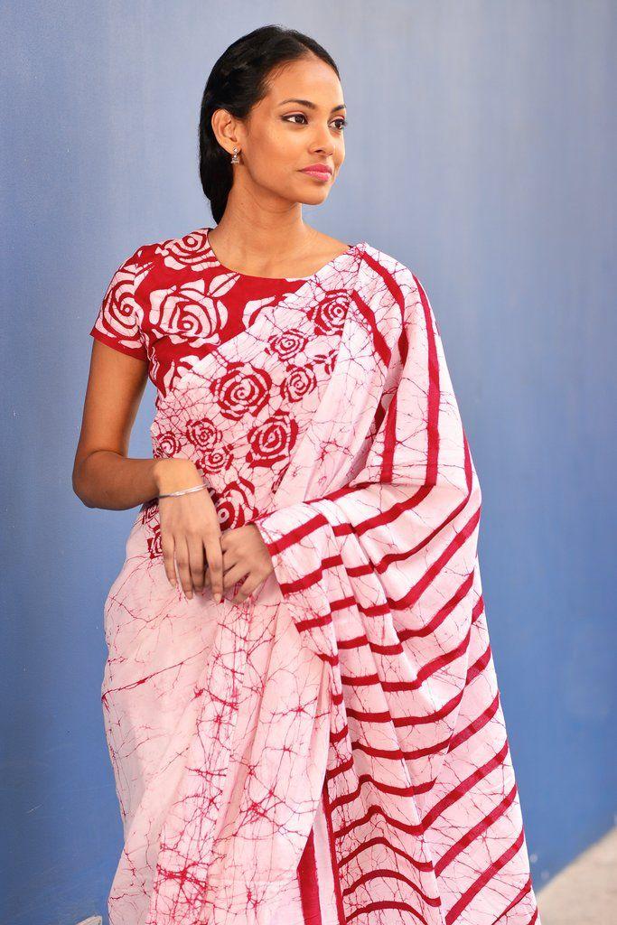 e0e8dfc35cf20 Batik Print Sarees