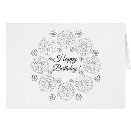 Color Your Own Card Flowers Pinterest Flower