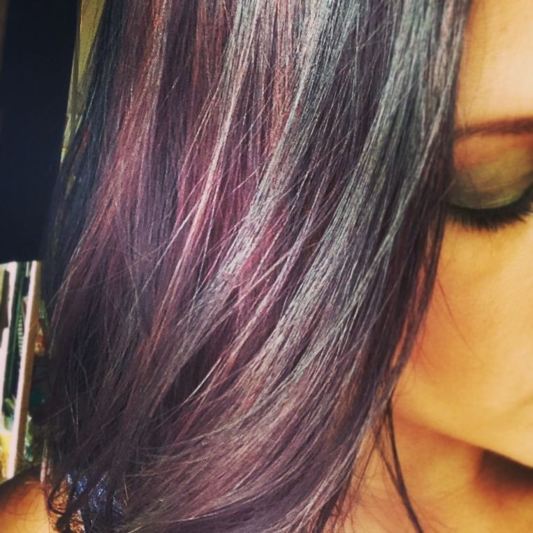My Burgundy Hair I Used Ion Color Brilliance Demi In Shade 3rv 35