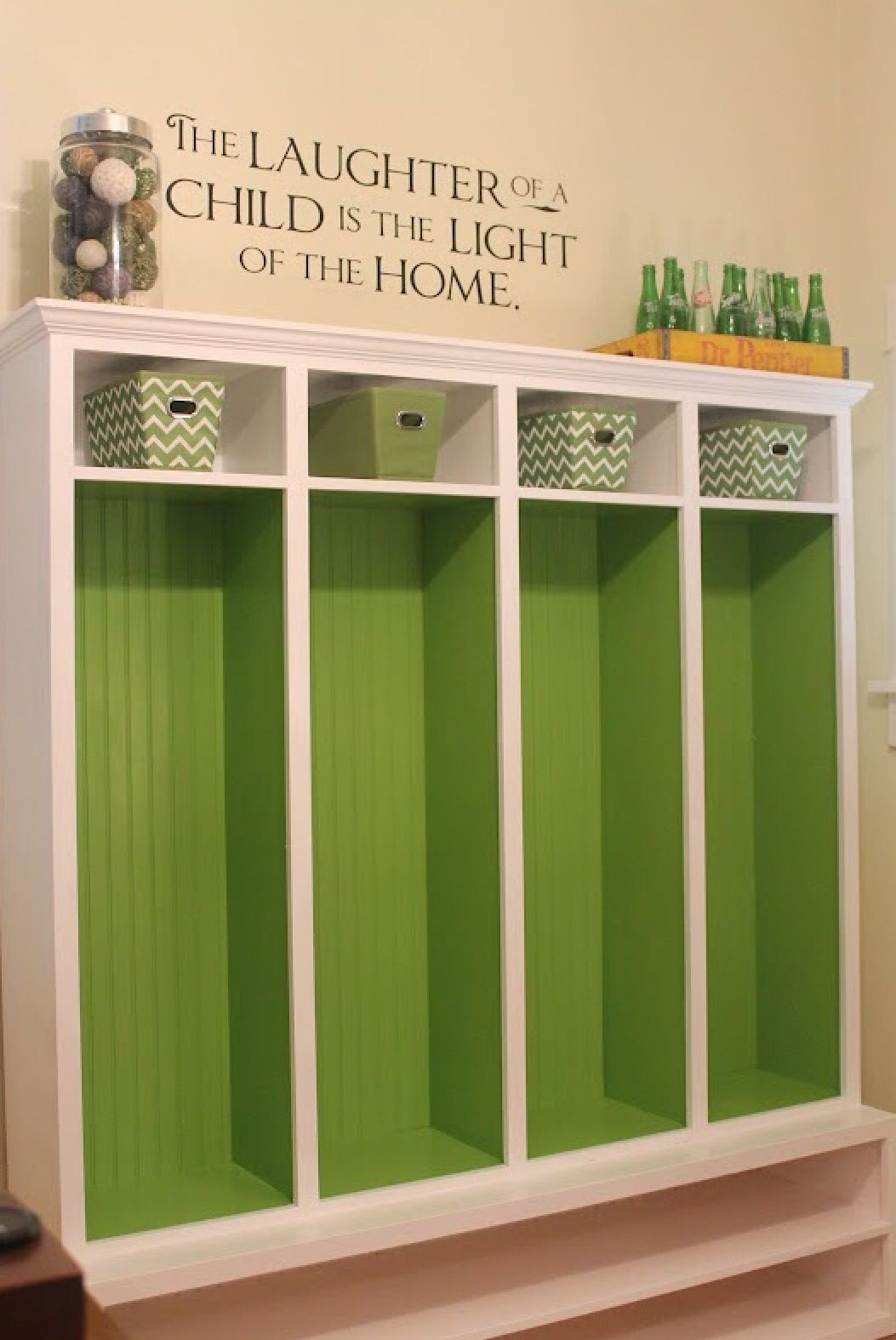 Green Backs In Cubbies (With Images)