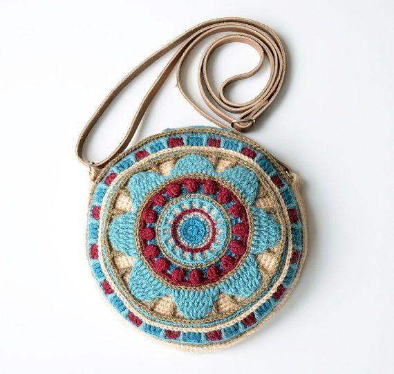 Ronda patrón de bolso ganchillo - superposición y tapicería crochet ...