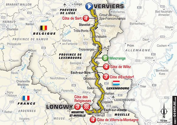 Stage 3 Verviers Longwy Tour de France 2017 Kolarstwo