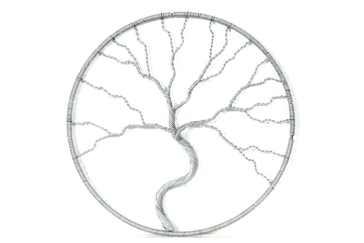 Veenaa metal art ornamental handcrafted white metal tree wall