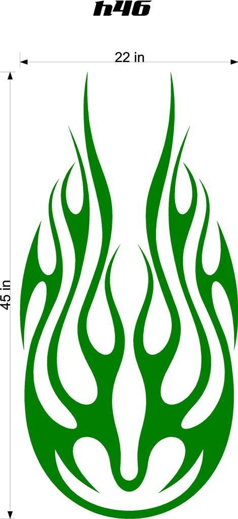 Auto Truck Car Hood Flames Stickers Graphics Decals HH46