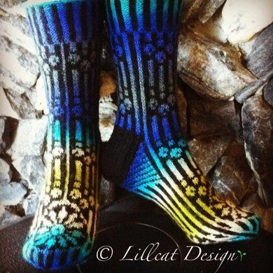 Cathedral Socks Knitting pattern by Lillcat Design | Knitting Patterns | LoveKnitting