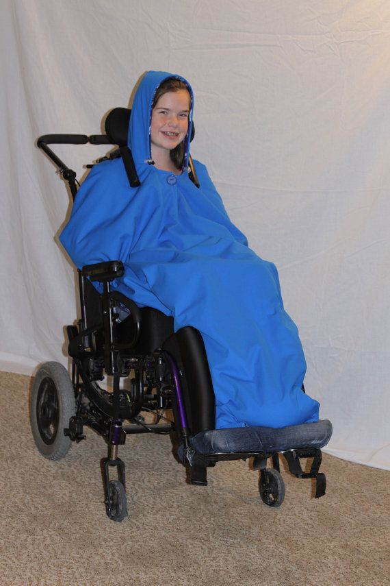 Adult / Child Wheelchair Coat Jacket Poncho Sewing Pattern
