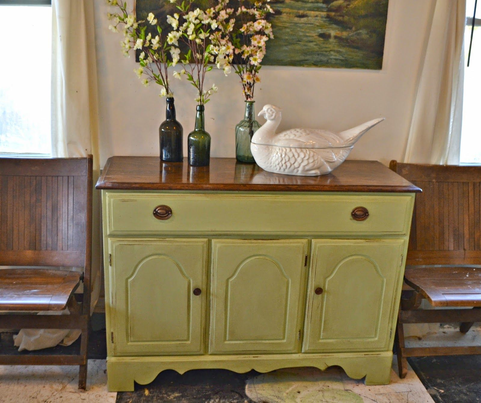 Heir And Space A Temple Stuart Sideboard In Pale Green Cool