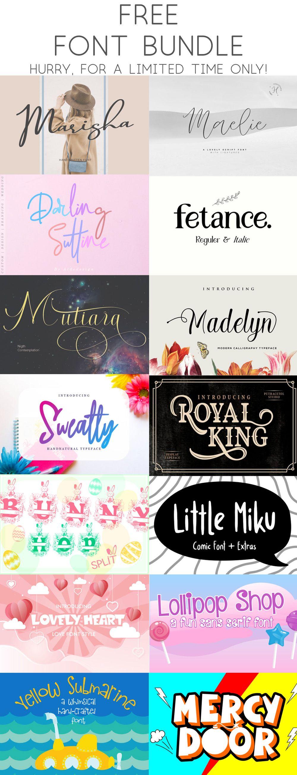 Download Free Font Bundle V3 (Bundle) · Creative Fabrica | Font ...