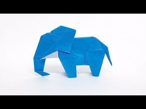 Photo of 動物折り紙「ゾウ」(さくB)Origami Elephant (sakuB),  #Elephant #origamielephant #sakuB #動物折り紙ゾウさくBOrigami
