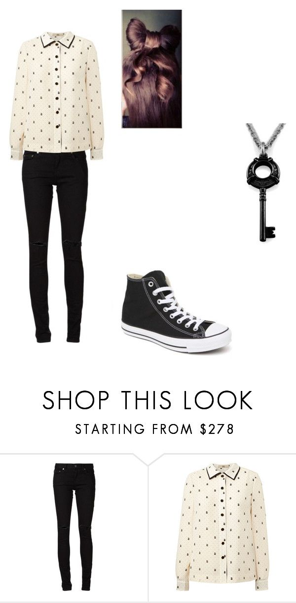 """""""outfit 5"""" by pockylover1 ❤ liked on Polyvore featuring Yves Saint Laurent, Orla Kiely and Converse"""