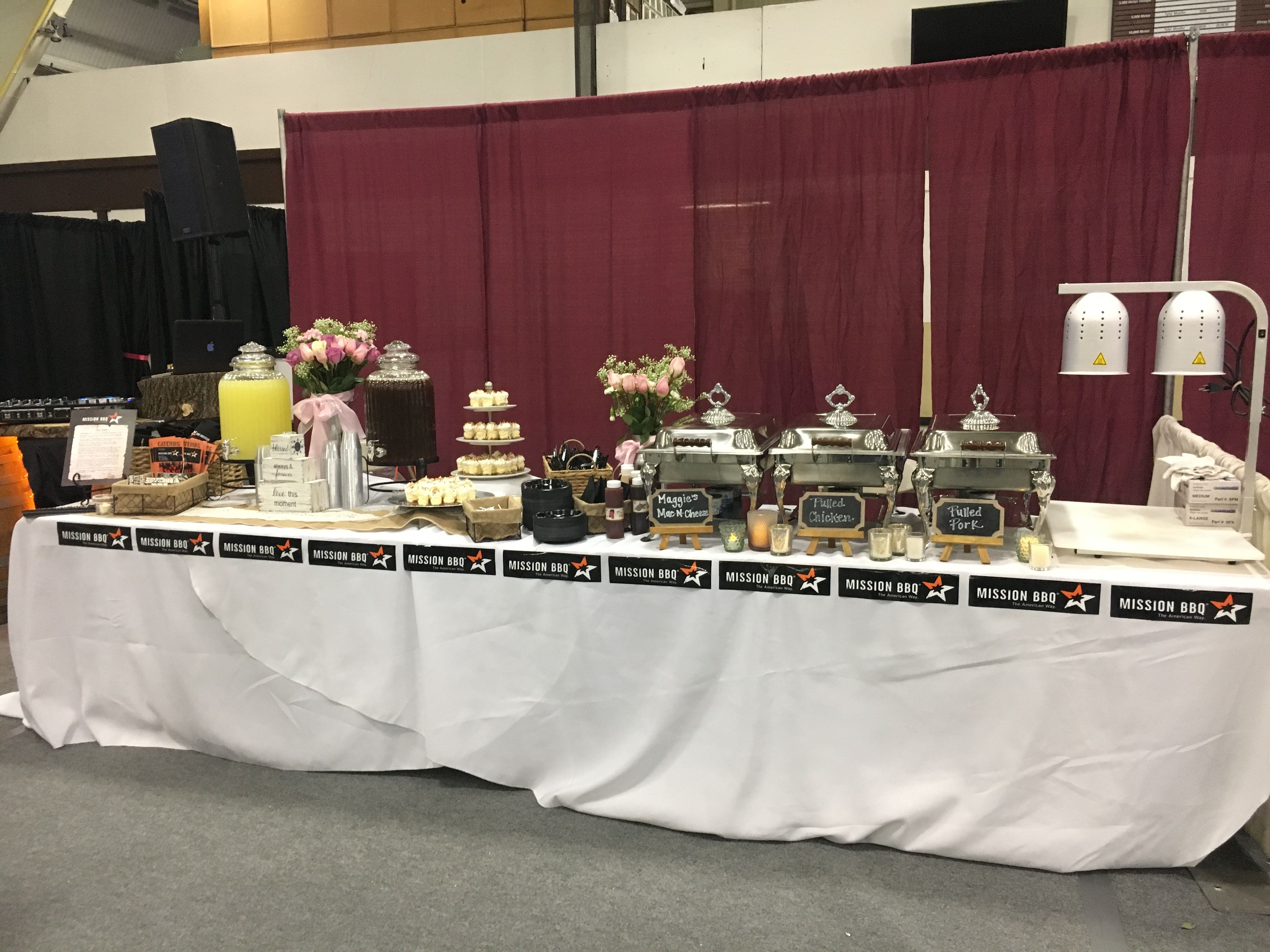 Mission BBQ Catering Wedding Expo Set Up Wedding