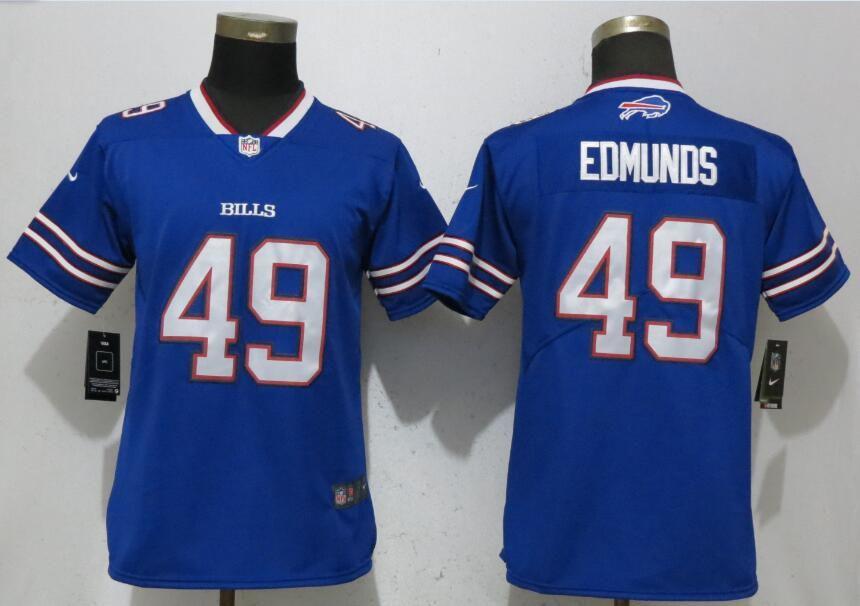 89f6068c171 Women Buffalo Bills 49 Edmunds Blue Nike Vapor Untouchable Limited NFL  Jerseys