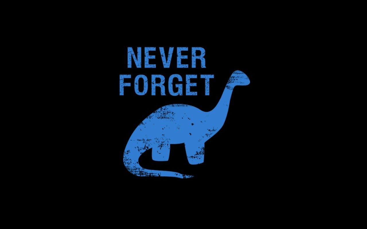 Simple Background Dinosaurs Dark Humor Typography Black