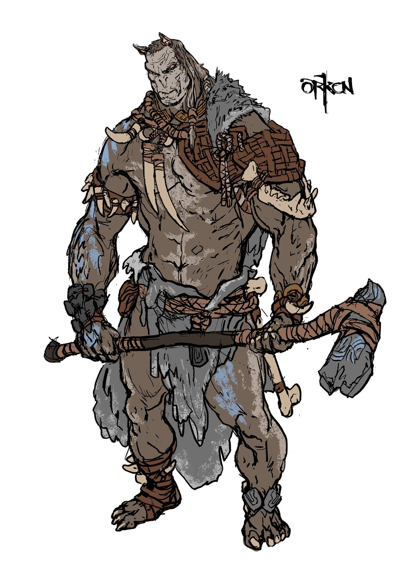 Orken Concept Art 121 Vk Person Soldier - Year of Clean Water