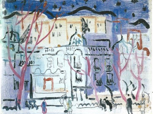 'Street Scene, South of France' by Christopher Wood, 1926