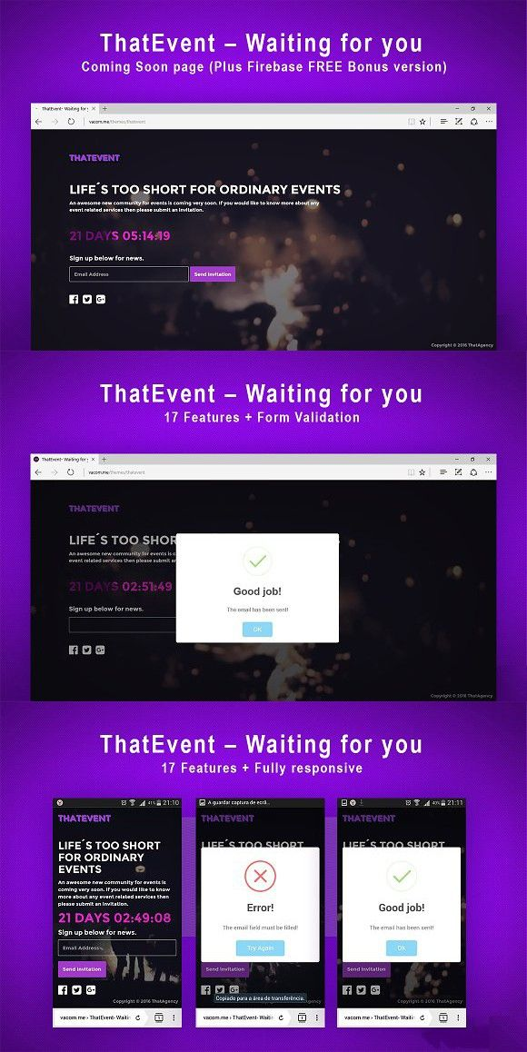 ThatEvent Waiting for you + Bonus Bootstrap template