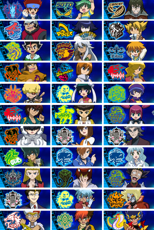Metal fight beyblade characters pictures Anyone know how I can find