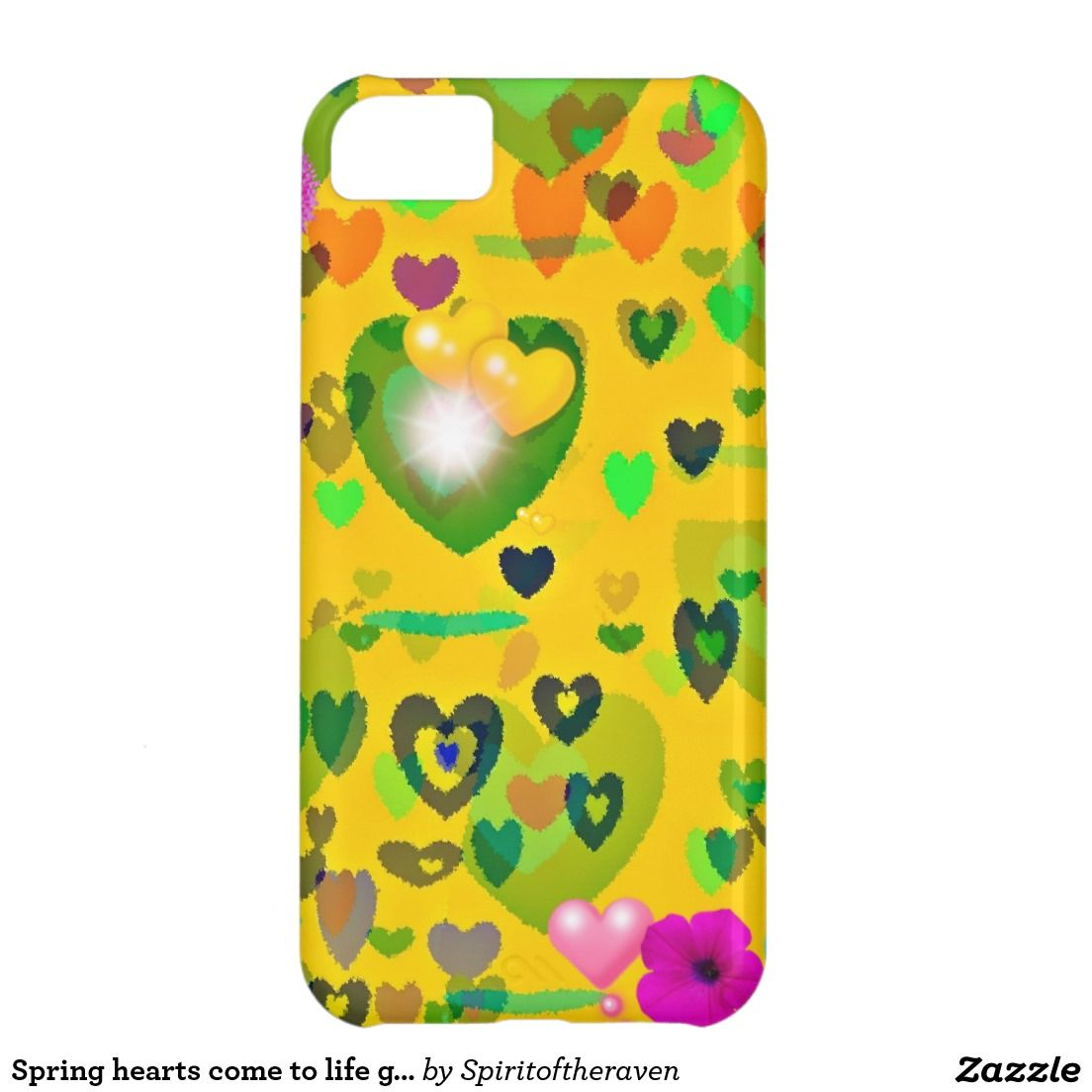 Spring hearts come to life gift collection case for iPhone 5C
