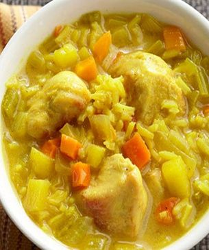 Crockpot Chicken Mulligatawny Soup-This is a WW 6 PointsPlus+ recipe. Makes 8 Servings #mulligatawnysoup