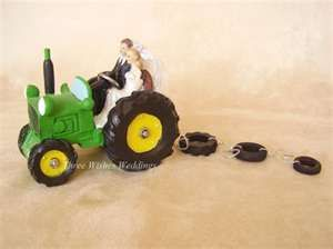 john deere wedding cake topper. love this idea.. would use a pick up ...