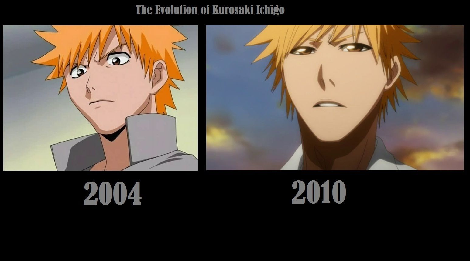 The evolution of kurosaki ichigo bleach anime
