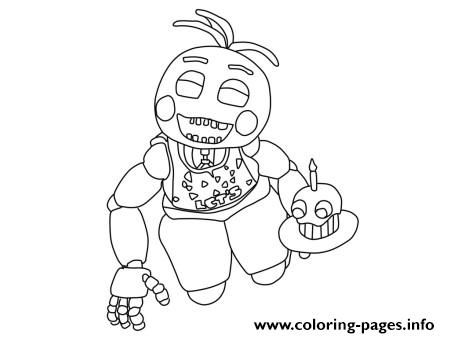Print Five Nights At Freddys Fnaf 2 Birthday Coloring Pages