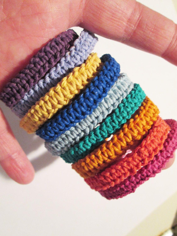 Handmade Hemp Bracelets Choose Your Color And Your Length Custom Hemp  Bracelets Colorful