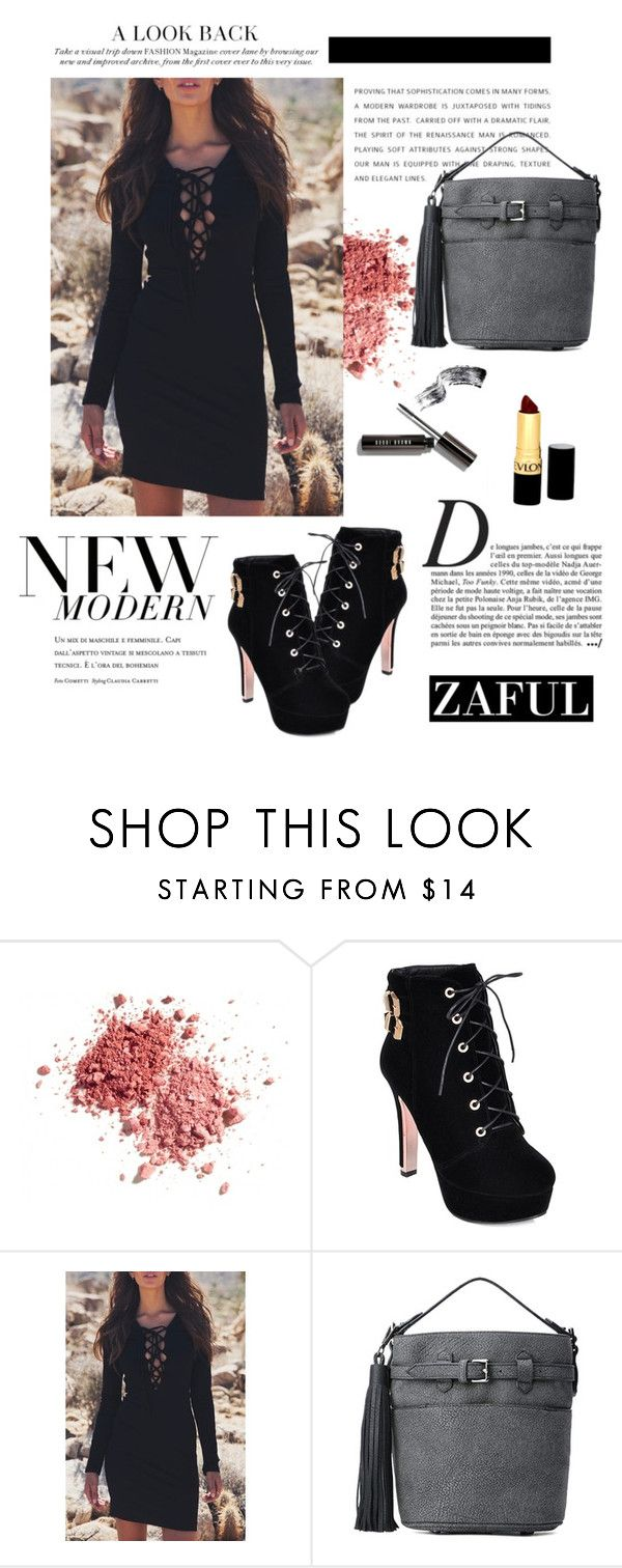 """www.zaful.com/?lkid=6496"" by mirelagrapkic ❤ liked on Polyvore featuring Anja and Revlon"