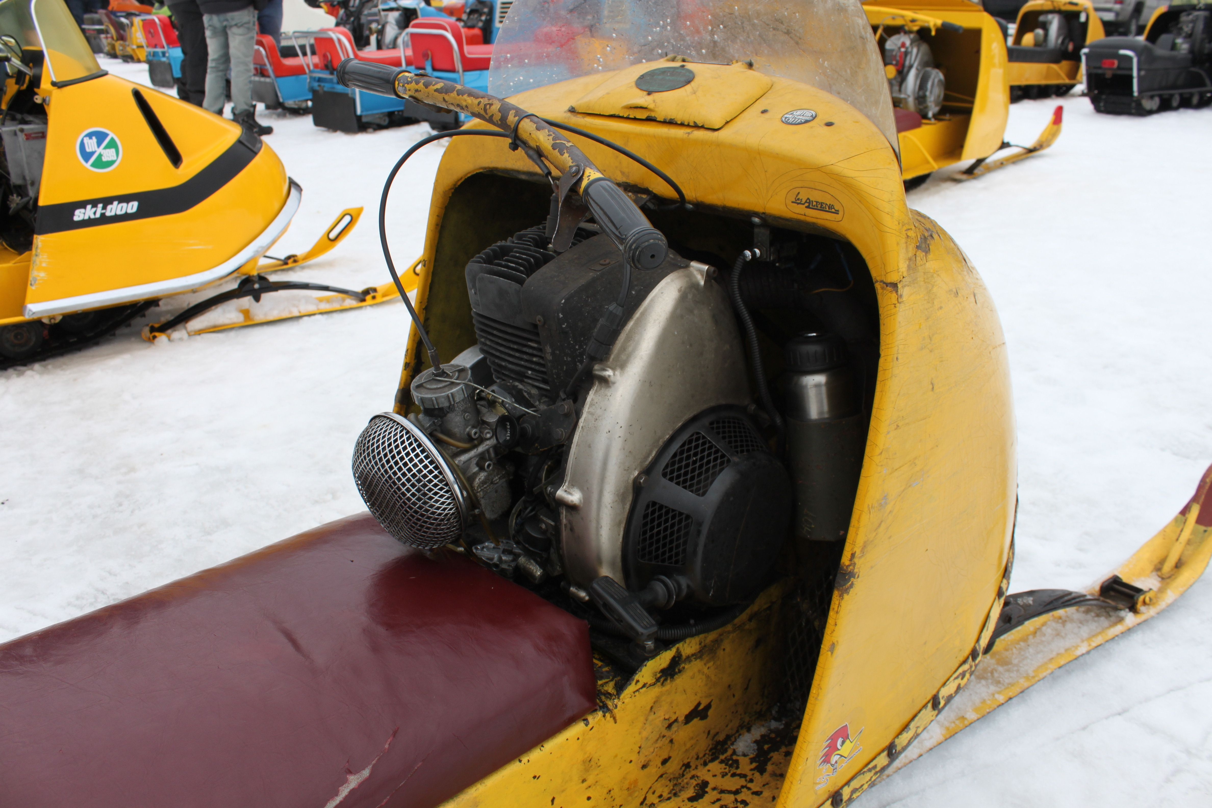 Antique snow machines image by Grant May   Vintage sled ...