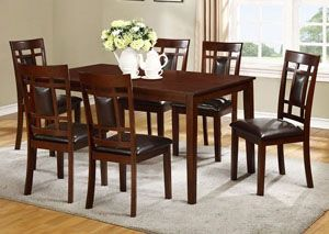 James Espresso Dining Table W 6 Side Chairs Categorydining Enchanting Espresso Dining Room Sets Inspiration Design