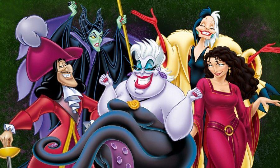 悪者たち!!! ディズニー・ヴィランズのイラスト画像