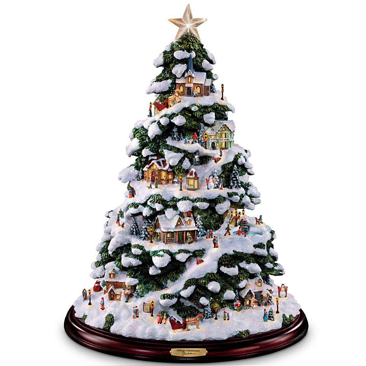 Amazon Com Thomas Kinkade Village Christmas Artificial