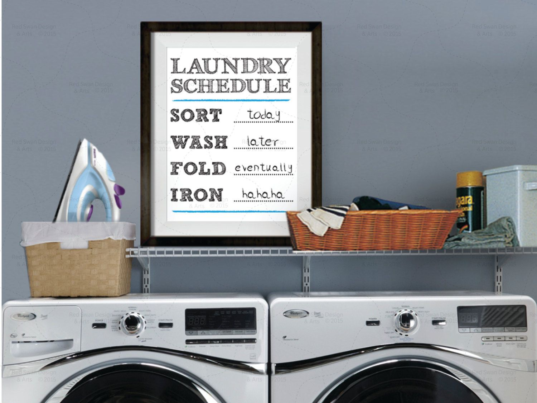 Laundry Room Decor Laundry Room Art Laundry Schedule Print