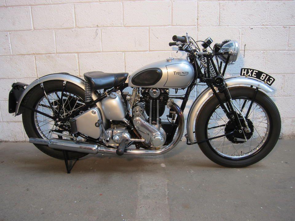 1942 Triumph 349cc 3hw Frame No Tl33482 Engine No 3hw43482 Triumph Classic Motorcycles Cars Uk