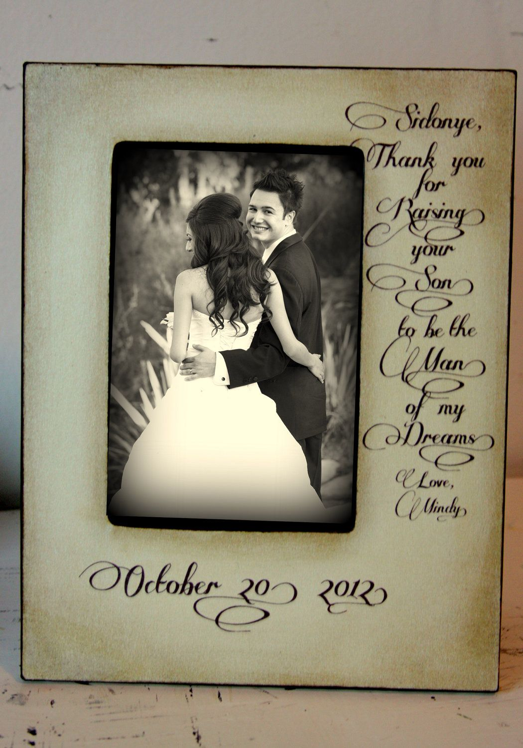 Wedding picture frame thank you for raising to be the man of my wedding picture frame thank you for raising to be the man of my dreams mother of the groom gift wedding 4x6 picture frame keepsake 5x7 jeuxipadfo Choice Image