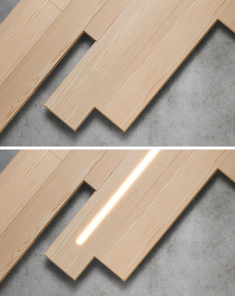 Led Lighting Is Hidden Within These Wooden Wall Panels Wood Panel Lighting Wood Panel Walls Wall Paneling