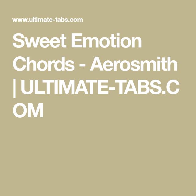 Sweet Emotion Chords - Aerosmith | ULTIMATE-TABS.COM | Ukulele ...