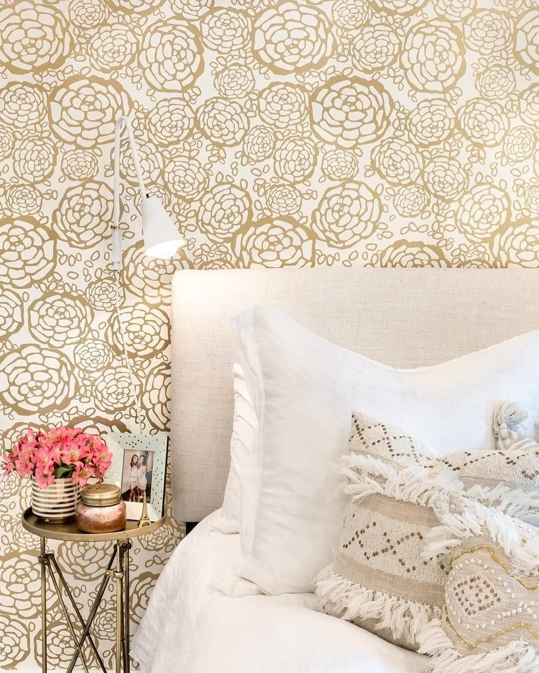 Petal Pusher Master Bedroom Wallpaper Wallpaper Bedroom Girls Room Wallpaper