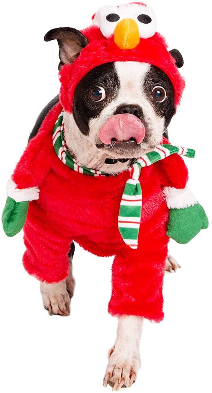 Pet Krewe Sesame Street Elmo Santa Dog
